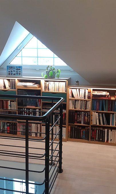 aménagement d'une pièce bibliothèque sur mesure