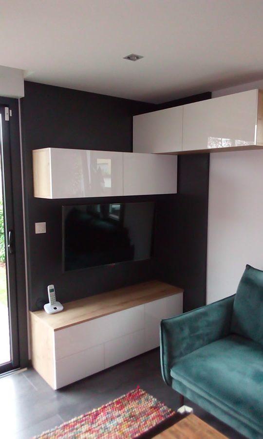 meubles de rangement sur mesure pour salon
